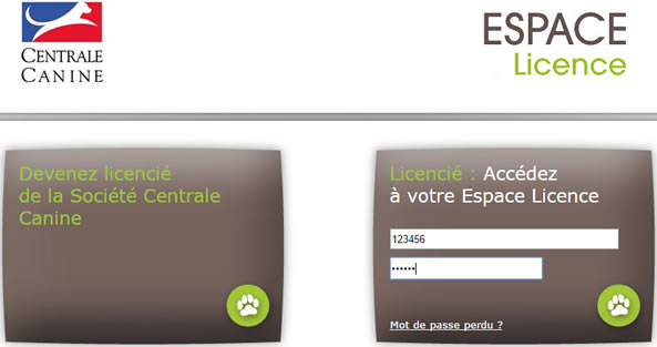 centrale canine espace licence